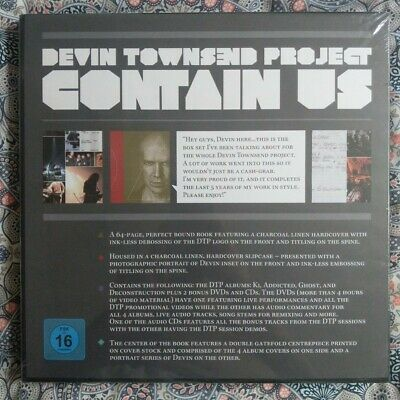 Devin Townsend Project - CONTAIN US Boxset - 6 CDs 2 DVDs - NEW SEALED • 20£
