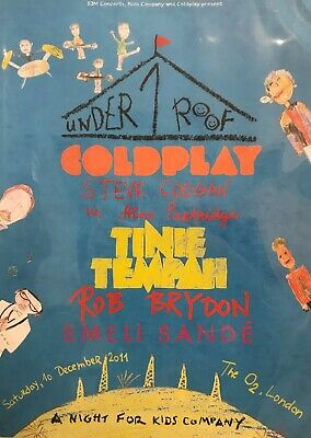 Coldplay Under One Roof London Concert 2011 A2 Poster Emili Sande Tinie Tempah • 3.99£