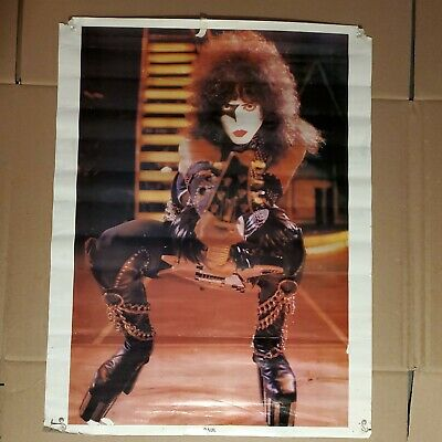 Kiss Paul Stanley On Stage  Promo Poster 1977 • 13.25£