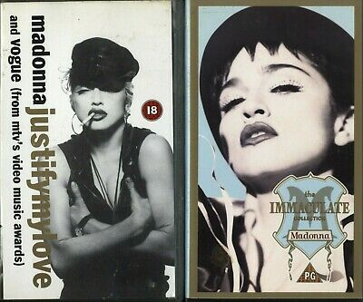 Madonna X2 VHS Justifymylove And Vogue (Promo) & Immaculate Video Cassette • 15.99£