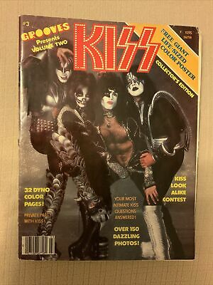 1978 KISS Grooves Magazine #3 W/ Poster • 25.73£