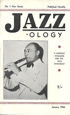 Jazzology No.1 (New Series) 1946 Vintage Magazine For Jazz Enthusiasts  • 4.50£