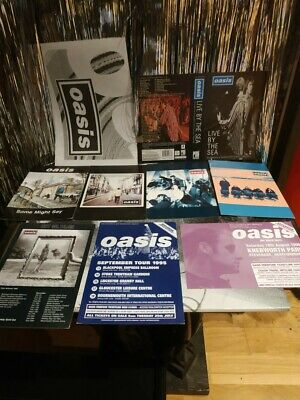 Oasis Promo Postcards Job Lot Vintage Rare Wonderwall Some Might Say By The Sea • 33.99£