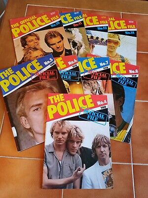 9 The Police Official File Fan Club Magazines   • 5£