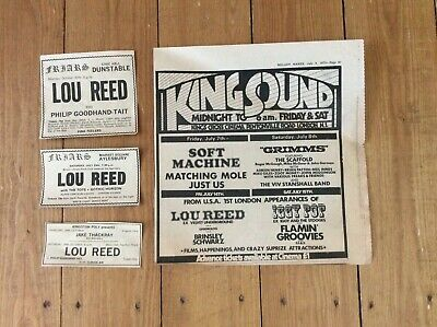 Lou Reed Concert Music Newspaper Advertisements Cuttings Clippings X 4 1972 • 16.99£