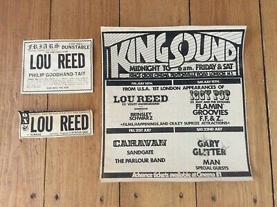 Lou Reed Concert Music Newspaper Advertisements Cuttings Clippings 1972 • 14.99£