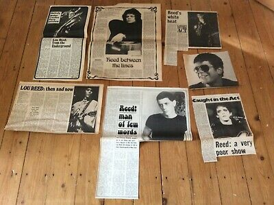 Lou Reed Vintage Music Newspaper Articles Cuttings Clippings 1970s • 16.99£
