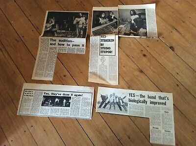 YES Vintage Music Newspaper Articles Cuttings Clippings Job Lot Bundle • 18.99£