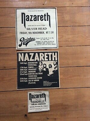 Nazareth Concert Vintage Music Advertisement Newspaper Cutting Clippings 1970s • 13.99£