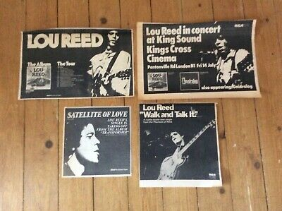 Lou Reed Concert Music Newspaper Advertisements Cuttings X 4 • 20.99£