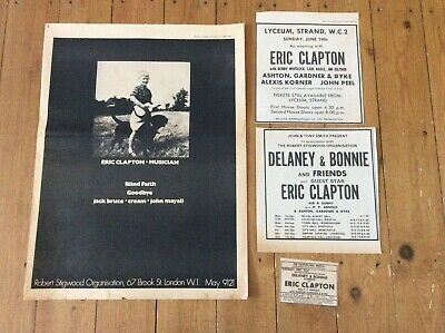 Eric Clapton Vintage Concert Music Newspaper Advertisements Poster Clippings  • 18.99£