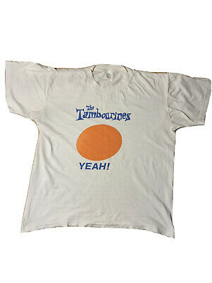 The Tambourines Genuine Vintage Tour T Shirt 1990 Indie Liverpool Steve Roberts • 20£