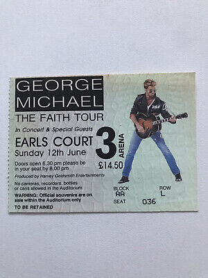 George Michael The Faith Tour 12th June 1988 Earls Court Ticket • 17.53£