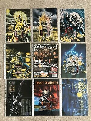 Iron Maiden Limited Edition Phonecards (8) And Telecard Collector Magazine • 250£