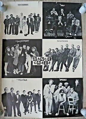 Dance Craze Two Tone Poster - Specials, Madness, Selecter, Bad Manners, The Beat • 35£