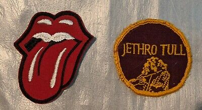 Vintage Rolling Stones & Jethro Tull Patches 1 New 1 Used Denim Jean Jacket • 7.09£