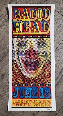 Radiohead Houston 2001 Poster Signed Uncle Charlie Mint • 7.09£