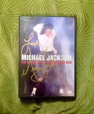 SIGNED Michael Jackson DVD Live Bucharest Bad Cd Dangerous Off Wall Thriller • 14.54£