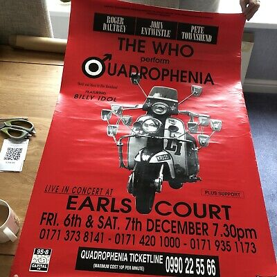 The Who Quadrophenia Earls Court London Poster • 30£