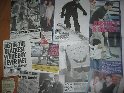 Justin Timberlake Uk Newspaper Cuttings 2003 - 07 Dated Collection 40 Clippings • 9£