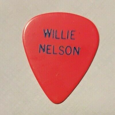 WILLIE NELSON 1980s Concert Tour Guitar Pick Original Late But Worth The Wait • 88.62£