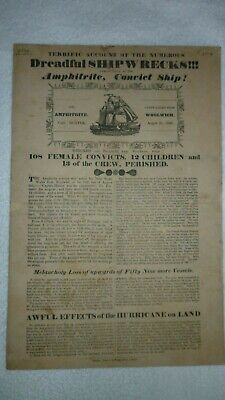 Old Newspaper Cutting Of The Shipwreck Of The Amphitrite Convict Ship. • 40£
