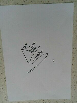 Mick Jagger Rolling Stones Signed A4 Page • 100£