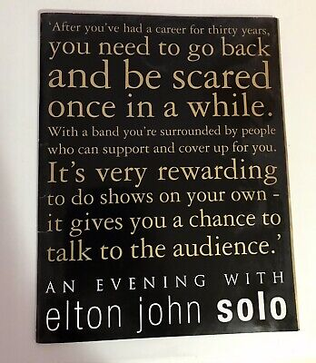 An Evening With Elton John 2000 Tour Programme • 2.99£