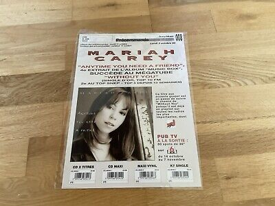 Mariah Carey - Anytime You Need A Friend - 1994 Superb Promo Advert. Very Rare. • 20£