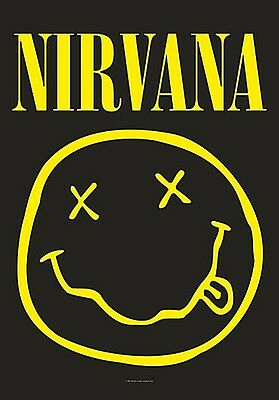 Nirvana Smiley Large Fabric Poster / Flag   1100mm X 750mm (hr)   • 9.99£