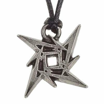 METALLICA NINJA STAR PENDANT ALCHEMY ROCKS Necklace Load Logo Pewter Official • 10.99£