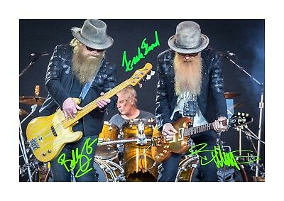 ZZ Top 2 A4 Signed Mounted Photograph Picture Poster Choice Of Frame • 6.95£