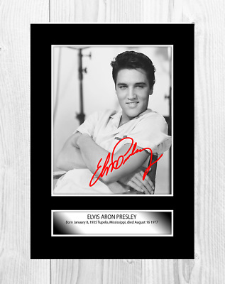 Elvis Presley (1) A4 Reproduction Signature Poster. Choice Of Frame. • 27.99£