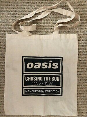 Oasis - Chasing The Sun 1993 - 1997 - Rare Manchester Exhibition Tote Bag • 19.99£
