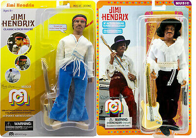 MEGO JIMI HENDRIX  BOTH New VERSIONS 8 Inch ACTION FIGURES • 37.52£