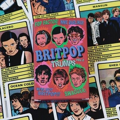 BRITPOP VOL.2 TRUMPS Card Game - 30 Britpop Bands(Shed Seven,Placebo,Radiohead)  • 13£