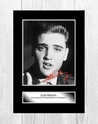 Elvis Presley 6 A4 Reproduction Signature Poster And Choice Of Frame • 27.99£