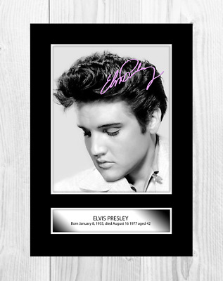 Elvis Presley 5 A4 Reproduction Signature Poster. Choice Of Frame. • 27.99£