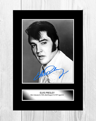 Elvis Presley 7 A4 Reproduction Signature 1968 Poster And Choice Of Frame • 27.99£