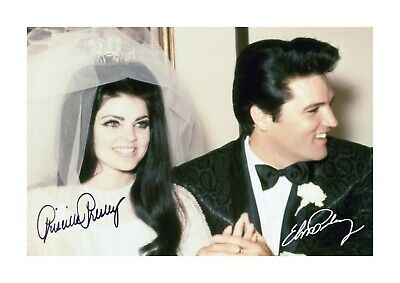 Elvis & Priscilla Presley Wedding A4 Reproduction Poster And Choice Of Frame • 34.90£