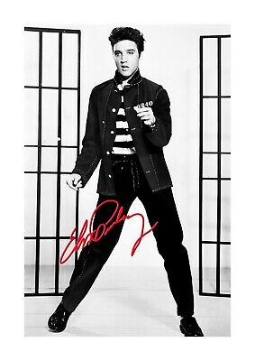 Elvis Presley Jailhouse Rock 1 A4 Reproduction Poster And Choice Of Frame • 27.99£