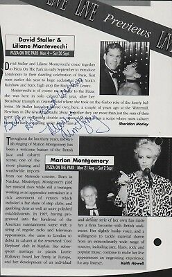 Marion Montgomery SIGNED American Jazz Singer  A4.707 • 9.99£