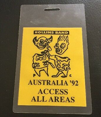 HENRY ROLLINS BAND 1992 Tour Laminate • 33.64£