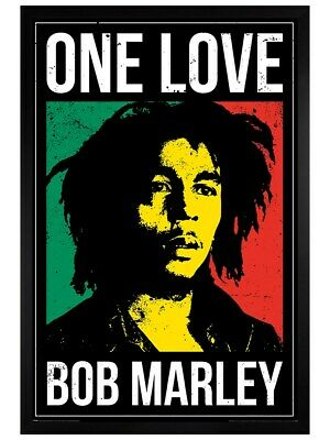 Bob Marley Framed Poster One Love Black Wooden Frame 61x91.5cm • 31.49£