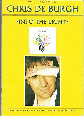Chris De Burgh - Into The Light - Scarce German Piano / Guitar Music Book • 9.99£
