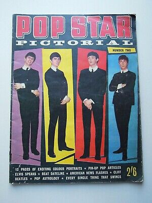 Beatles On Front Cover Pop Star Pictorial Magazine Ex ! • 14.99£
