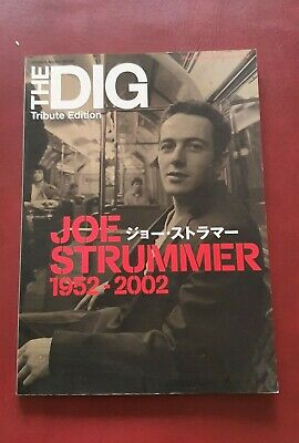 JOE STRUMMER 1952-2002 Japan Magazine THE DIG Tribute Edition PHOTO BOOK CLASH • 35£
