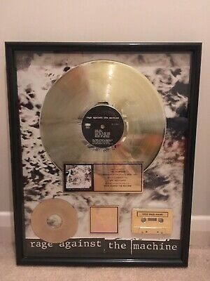 Rage Against The Machine Self Titled Album RIAA Gold Record Award Disc • 1,599.99£