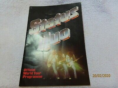 Status Quo Official World Tour Programme  ~* • 20£
