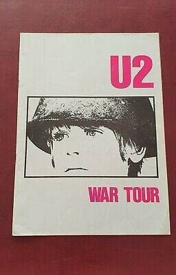 U2 WAR TOUR PROGRAMME 1983 Excellent Condition • 42£